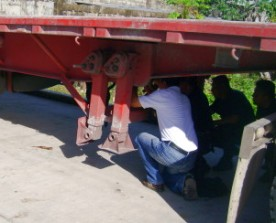 Bajo la plataforma se encontró el compartimento secreto