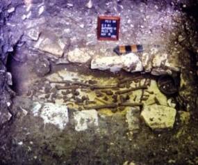 Un entierro hallado en Palenque.