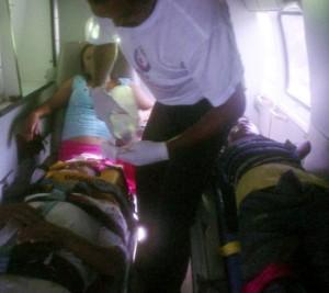 Los lesionados fueron trasladados por CruzRoja.