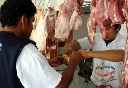 Toma de muestras permitió detectar carne contaminada.