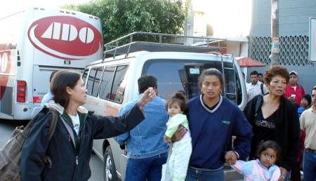 El bloqueo causo el malestar de pasajeros del ADO.