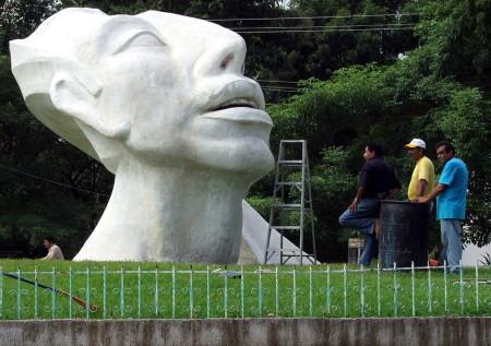 La escultura distintiva de Palenque será remodelada.