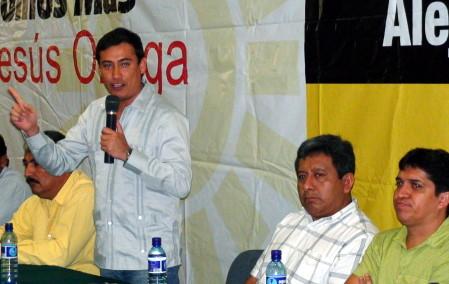 Alejandro Gamboa efectuó gira proselitista por Palenque.