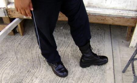 Calzaba botas propiedad de laSedena.