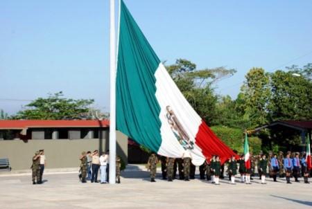 El Ejército se hizo cargo de la ceremonia civica.