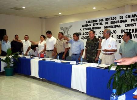 Fue instalado el Consejo Intermunicipal de Seguridad Pública Zona Selva.