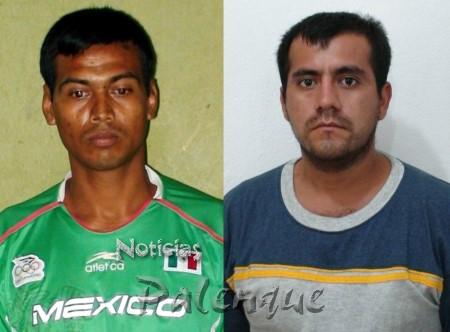 Francisco Méndez y Napoleón Cisneros, quien acaba de salir del penal por homicidio.