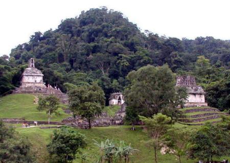 Las ancestrales ruinas mayas, el marco del encuentro indigena- ambiental.