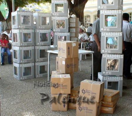 Solo 4 urnas se instalaron  en Palenque y hay resultados de siete.