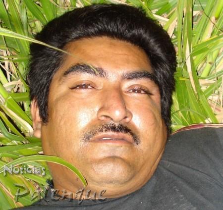 Damián Ramón, uno de los heridos en el enfrentamiento.