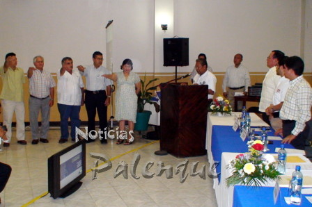 La nueva directiva de Hoteleros de Palenque tomó posesión.