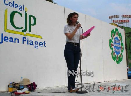 La organizadora llamó a cuidar el medio ambiente.