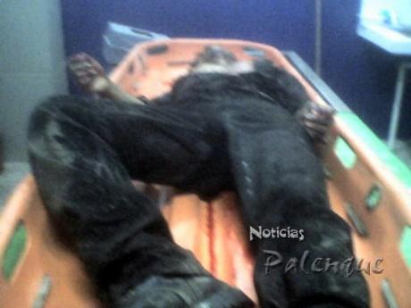 El cuerpo fue traido al Semefo para la necropsia.