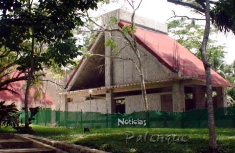 El edificio observa un considerable avance en su construcción.