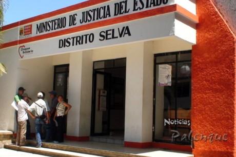 En la fiscalia distrital hay 7 ejidatarios detenidos.