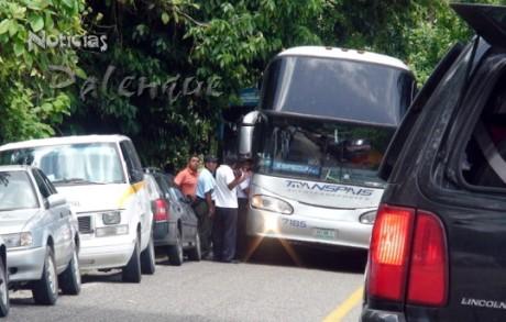 La polic�a municipal intervino para agilizar los embotellamientos.