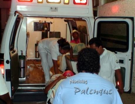 Cruz Roja trasladó al herido a Villahemosa.