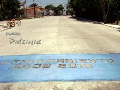 """El ancho boulevard """"Juan Sabines"""", destaca en la obra pública de Catazajá."""