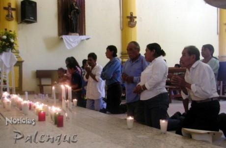 Los indigenas choles celebraron al Santo Patrono.