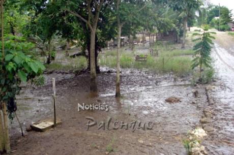 Al terminar la lluvias el agua y el lodo seguian metiéndose a las casas.