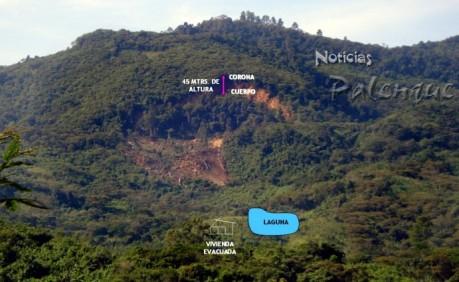 Se desprendieron unos 10 mil metros cúbicos de tierra y piedras.