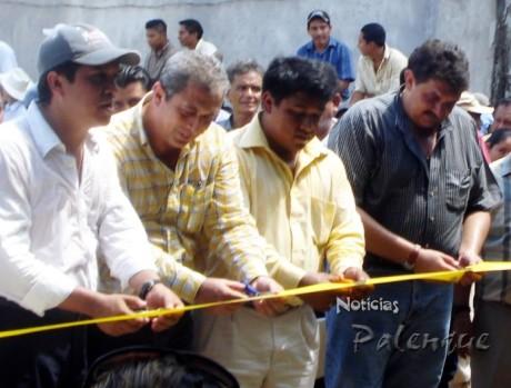 Juan Carlos López en la inauguración de la expo ganadera de Salto de Agua.