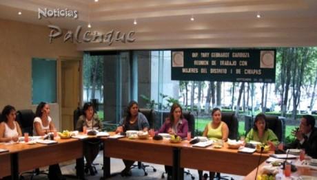 La diputada se se reunió con mujeres de su distrito en San Lázaro.