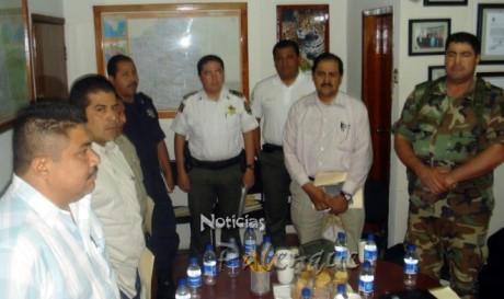 Autoridades policiacas sostuvieron reunión de seguridad.