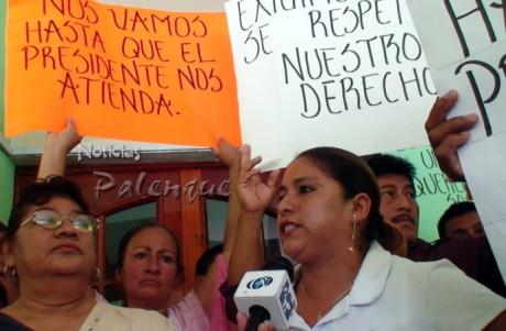 Demandaron la atención directa del presidente municipal.