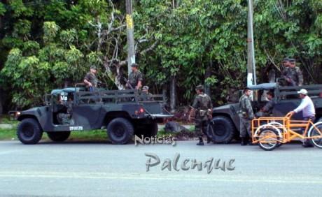 El ejército se movilizó para investigar la narcomanta.