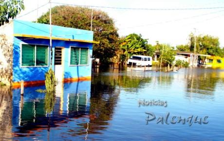 Inundadas mas de mil viviendas en en Catazajá.