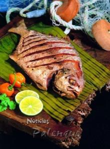 La comida tipica es el pescado frito.