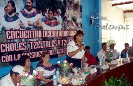 La dirigente del ONMPRI ofreció gestionar las demandas.