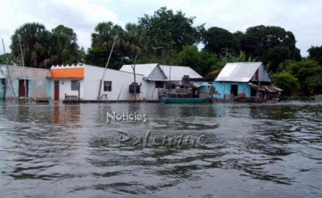 Ya hay más comunidades inundadas y más familias afectadas.