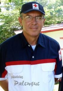 El delegado de Cruz Roja Chiapas llevó ayuda humanitaria.