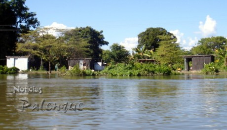 Un total 178 viviendas afectó el agua en Calatrava.