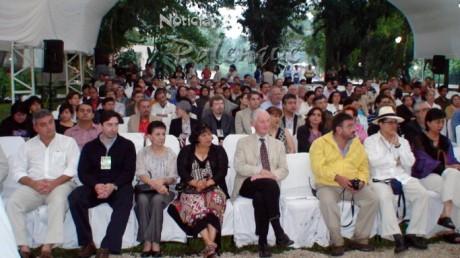 Especialistas de todo el mundo en la inauguración de la Mesa Redonda de Palenque.