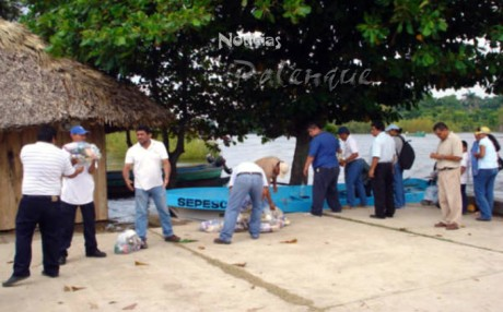 Inició tercer reparto de mil 400 despensas para afectados en Catazajá.