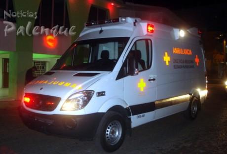 La mejor ambulancia del pais ya está en Palenque.