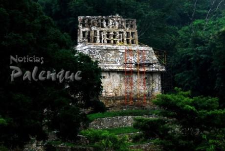 El Templo XXII de Palenque conserva muchos enigmas.