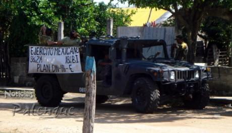 Activado el DN-III, el ejército entró en apoyo de los damnificados.