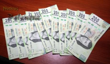 Billetes falsos decomisados al falsificador tabasqueño.