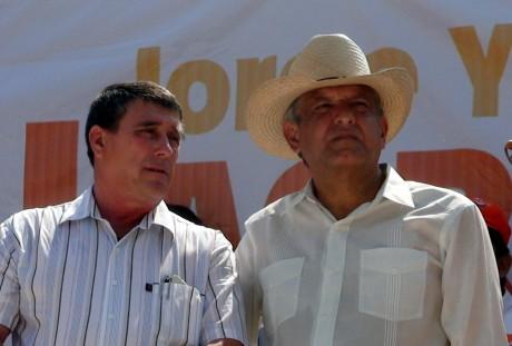 Candidato de la coalición recibió el apoyo de AMLO.