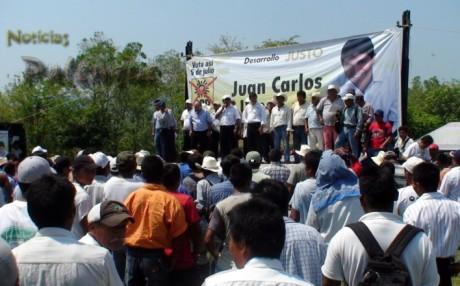 En San Martín Chamizal reunió a comisariados de la zona.