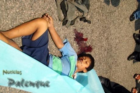 El niño murió instantáneamente tras ser arrollado.