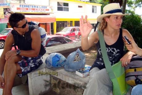 Dos de las mas de 30 victimas de robos sobre el ADO que registra este año en Palenque.