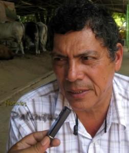 El presidente de los ganaderos Martin Arellano Jaimes.