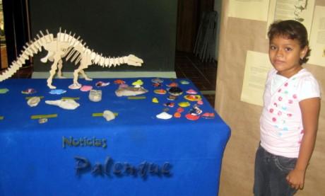 Los pequeños aprendieron sobre los fosiles.