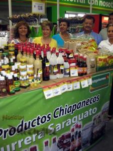 Los productos chiapanecos ya se comercializan en la tienda.