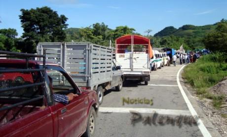 Afectaron la circulación de cientos de vehiculos.